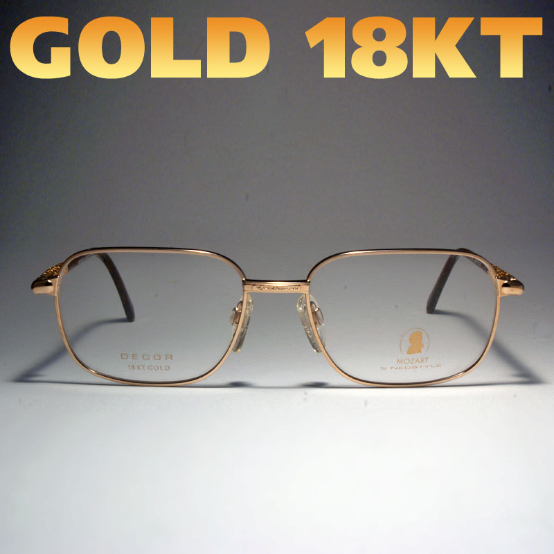 Deluxe-brille-dirty-look-750-echt-Gold-Titan-Rot-Braun-Goldglitter-TOP-Design