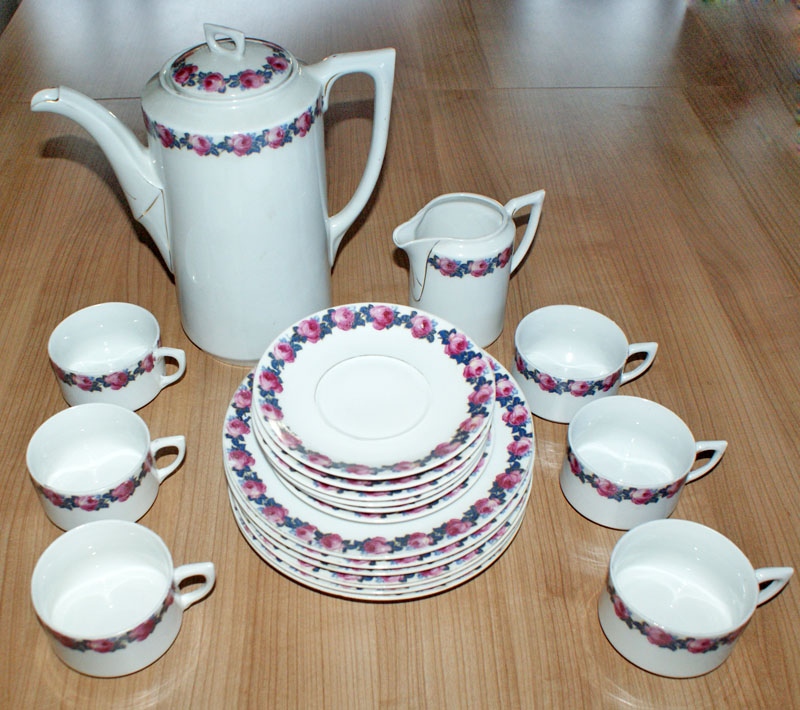 antikes porzellan kaffee service c t altwasser ebay. Black Bedroom Furniture Sets. Home Design Ideas
