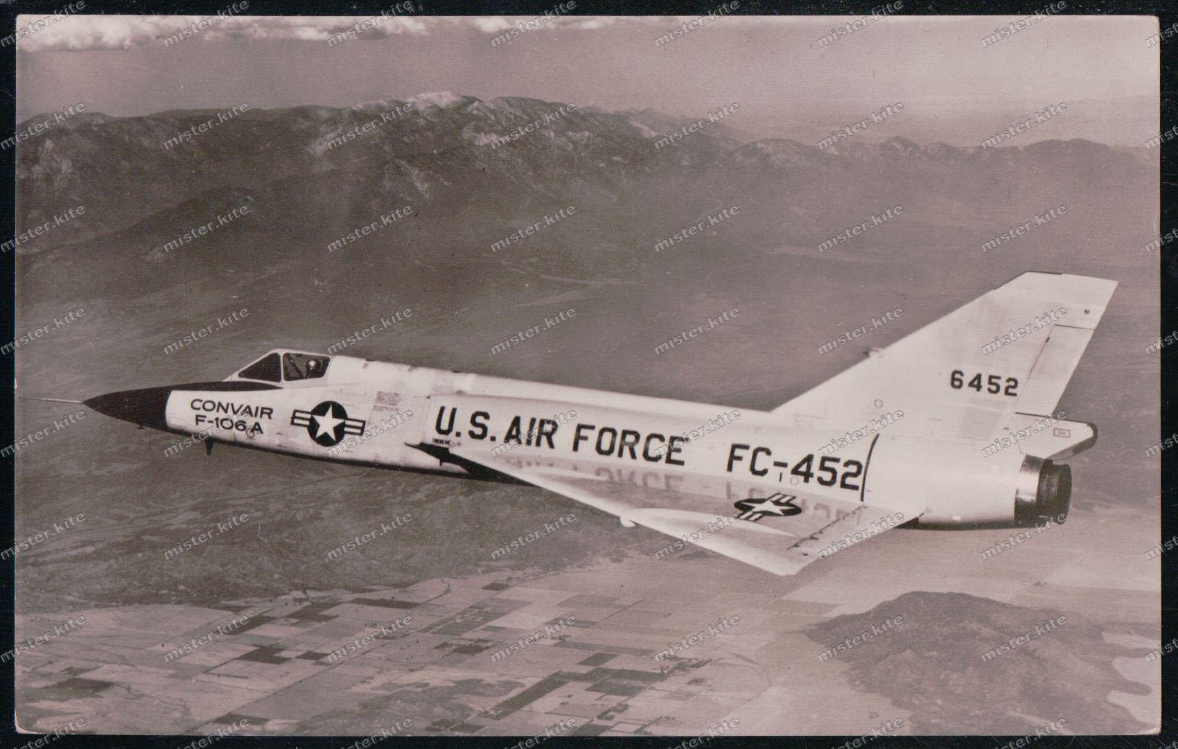 Foto-ak-convair-f-106a-flugzeug-airplane- Transport Flugzeuge & Flughäfen